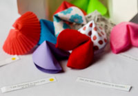3 Fortune cookie crafts