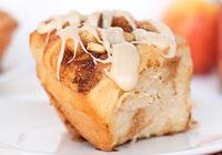 Apple cinnamon rolls with maple bourbon icing
