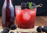 Blackberry thyme shrub