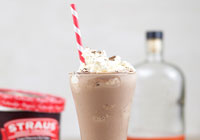 Boozy chocolate shakes