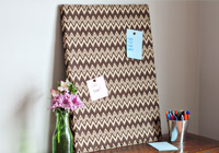 Burlap bulletin board tutorial
