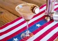 Campfire s'mores martini