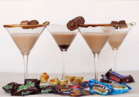 Candy bar martinis