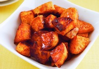 Chili-roasted sweet potato nuggets