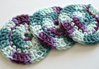 Crochet your own reusable face scrubbies