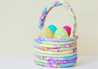 DIY fabric Easter basket