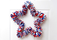 DIY felt wreath for Fourth of July