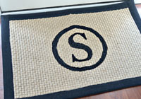 DIY monogrammed doormat tutorial