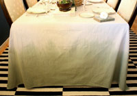 DIY ombre tablecloth for fall
