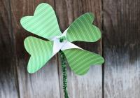 DIY shamrock pinwheels