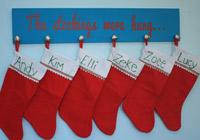 DIY stocking hanger