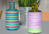 DIY yarn-wrapped vase for Mother's Day