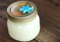 Easy DIY lemon vanilla salt scrub