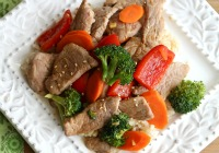 Easy pork stir-fry with vegetables &amp; hoisin sauce