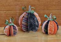 Fun paper pumpkin tutorial