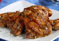 Grilled chicken with Dijon molasses glaze