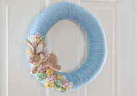 How to make a pretty Easter wreath