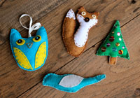 How to make homemade felt ornaments