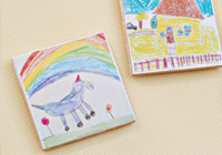 How to make magnets from your child's art