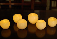 DIY: Make wax luminaries