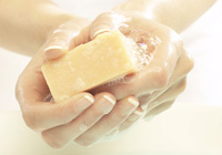 Lathering up with breast milk soap