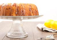 Lemon white chocolate Bundt cake