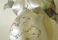 Make a belly cast mold of your baby bump