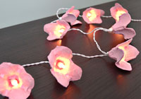 Make your own blossom fairy lights