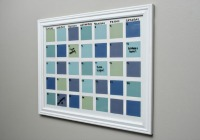 Paint chip dry erase calendar
