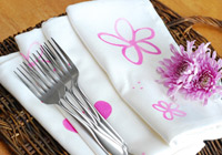 Paint your own table linens for spring