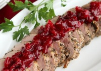 Roasted pork tenderloin with cranberry orange relish