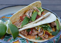 Slow cooker simple shredded pork tacos