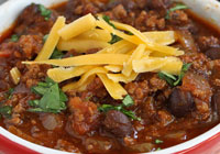 Smoky beef and black bean chili