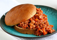 Spicy turkey sloppy Joes