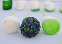 St. Patrick&#039;s Day marshmallow pops