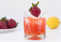Strawberry patch cocktail