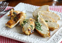 Stuffed chicken breasts with spinach & ricotta