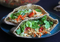 Thai chicken pita sandwiches
