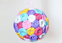 Welcome spring with a pretty paper pomander