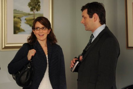 Tina Fey and Michael Sheen in 30 Rock