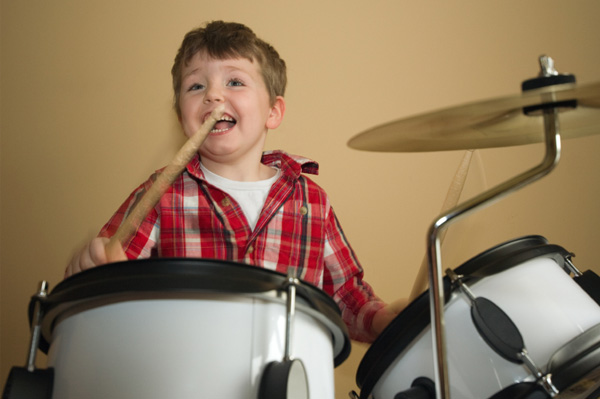Boy on drums