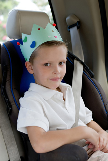 Child in booster seat