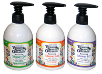 Available: www.desertessence.com. Retail: $9 each Desert Essence Organics Coconut Shampoo and Conditioner Vermont Soap's Moisturizing Shower Gels