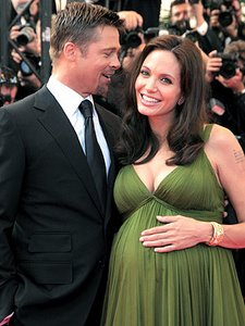 Angelina pregnant with twins