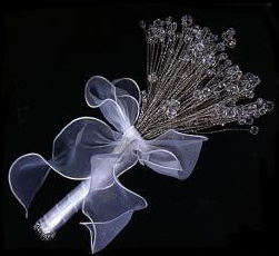 elegant crystal bouquet