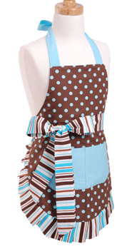 Flirty Aprons Blue Chocolate Apron
