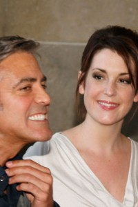 George Clooney and Melanie Lynskey