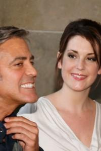George Clooney and Melanie Lynskey