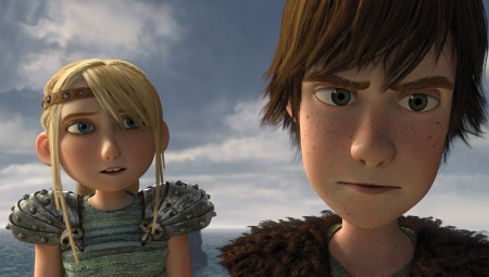 America Ferrera and Jay Buchanel in DreamWorks' How to Train Your Dragon