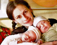 Julia Roberts with twins